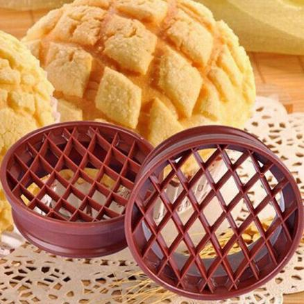 Lattice Press Pineapple Bun Mold Cutter Bread Cake Mould Biscuit Stamp Mould (HHI-547084)