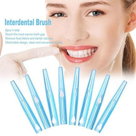 1/2/4 Set Oral Care Interdental Brush Orthodontic Wire Toothbrush 0.7mm Brush (HHI-530246)