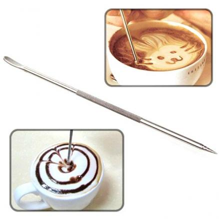 Stainless Steel Fancy Coffee Art Pen for Cappuccino Machine Cafe Tool (HKI-546893)