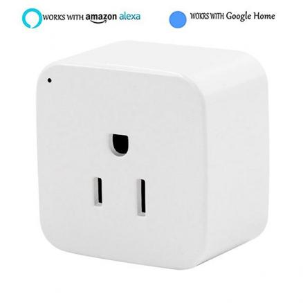 Mini WiFi Smart US Plug Remote Control Socket Work w Alexa Echo & Google Home (HLT-544050)