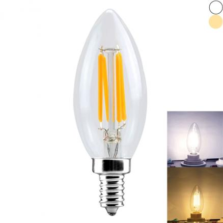 YWXLight E14 220-240V 4W COB LED Candle Bulb - Warm White / Natural White (HLT-532467)