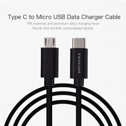 YAOMAISI USB Type-C to Micro USB Data Charger Cable (EPA-538040)