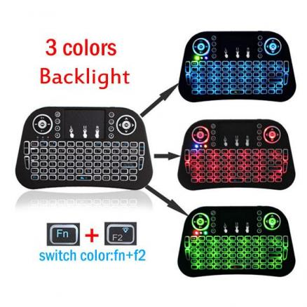 Portable Mini Wireless 2.4G Colorful Backlit Touchpad Keyboard (ECA-528523)