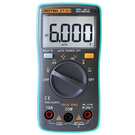ZT101 Digital Multimeter 6000 Counts Display Automatic Range (EDT-525600)