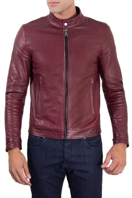 Leather jacket AD MILANO (0248_RED_PURPLE RED PURPLE)