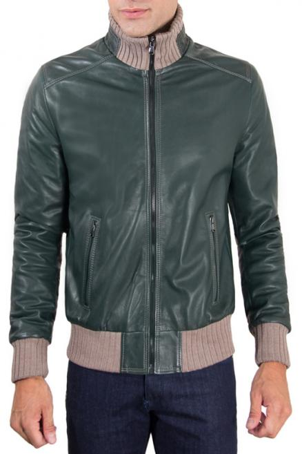 Leather jacket AD MILANO (0255_GREEN GREEN)