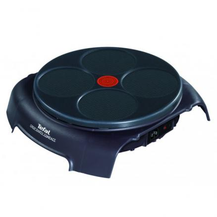 Блинница Tefal PY3036 Crep'Party Compact на 4 блина, цвет баклажановый PY303633
