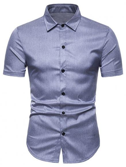 Solid Color Short Sleeve Shirt