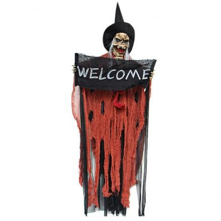 Halloween Hanging Ghost Door Festival Electric Skull Resin Bar Haunted House Layout Lighting Decoration
