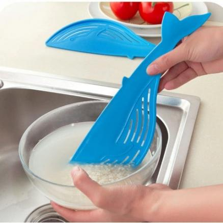 Cooking Tools Kitchen Tool The Whale Shaped Handle Type Water Filter Frame Rice Washer Creative