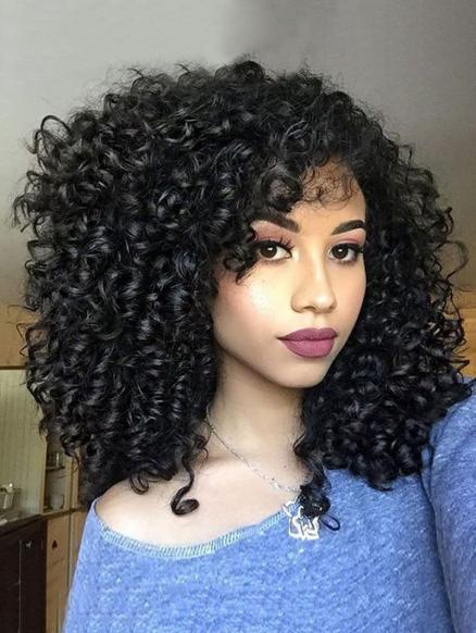 Afro Curly Medium Synthetic Wig