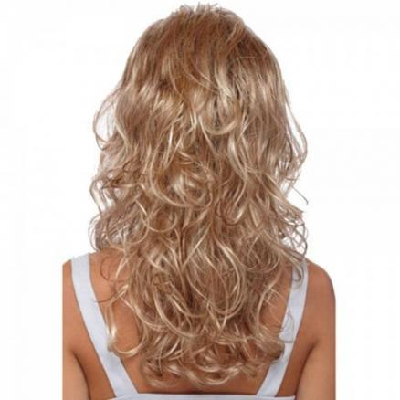 Gold Big Wave Long Curly Hair