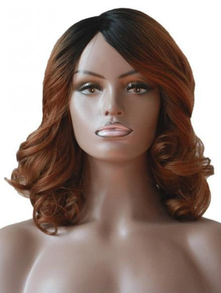 Side Part Medium Fluffy Body Wave Synthetic Wig