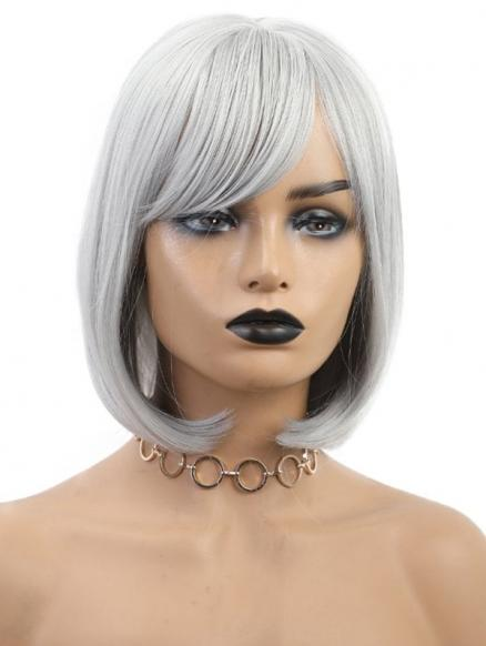 Side Bang Bob Straight Medium Synthetic Wig