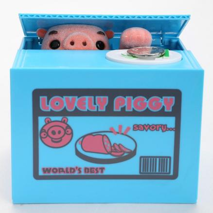 Automatic Electric Stole Coin Cartoon Pig Money Box