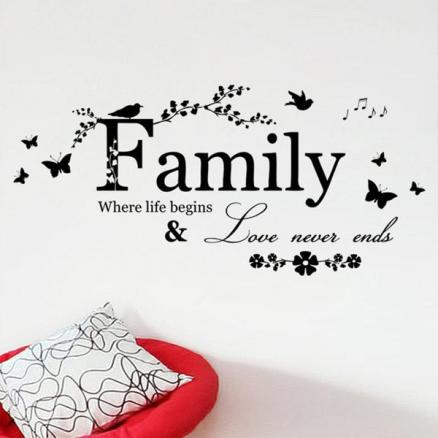 Simple Removable Family Butterfly Wall Art Sticker