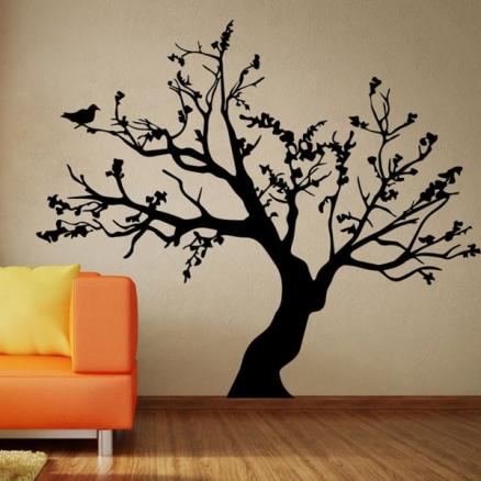 Stylish Big Tree Pattern Background Wall Sticker For Bedroom Livingroom Decoration