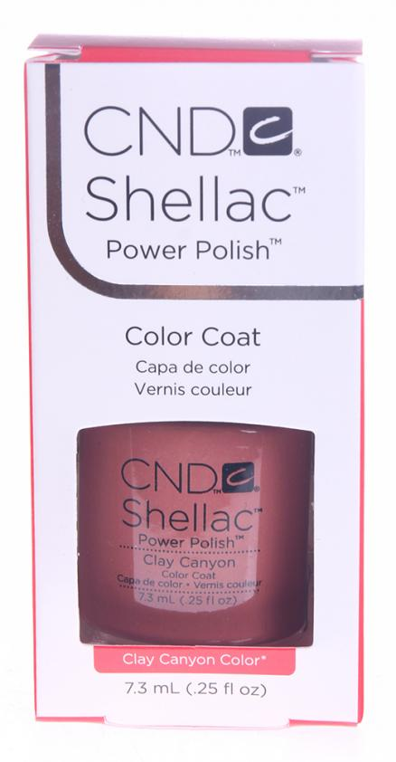 """CND 041S покрытие гелевое """"Clay Canyon"""" / SHELLAC 7,3мл"""