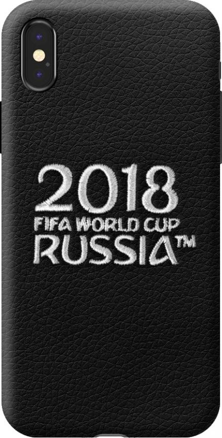 Чехол с вышивкой для Apple iPhone X , FIFA_Embroidery_Offcial Logotype, Deppa 104239