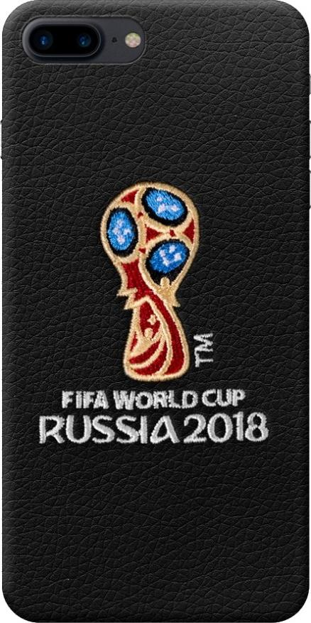Чехол с вышивкой для Apple iPhone 7/8 Plus, FIFA_Embroidery_Offcial Emblem, Deppa 104236