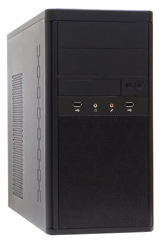 КЕЙ BIZ Start B-100-2G1000W (AMD A4 5300,  AMD Radeon HD 7480D, DDR3 2Гб, 1000 Гб, DVD-RW, Windows 10, mATX, чёрный)