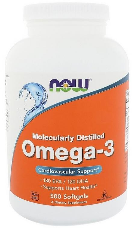 Now Foods Omega-3 Molecularly Distilled Softgels 500 caps