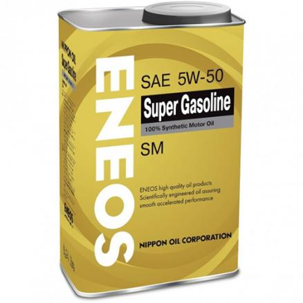 5W50 Масло моторное ENEOS Super Gasoline 100% Synt. SM 5/50 0,94 л