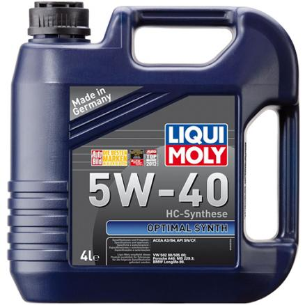 LIQUI MOLY Масло моторное LIQUI MOLY Optimal Synth 5W40 4л.