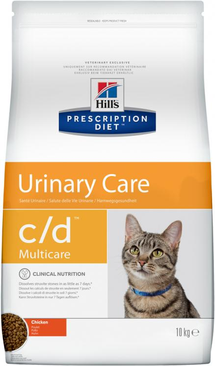 Сухой корм Hills Prescription Diet c/d Feline Multicare with Chicken  диета для кошек 10 кг