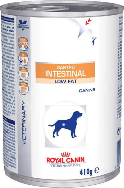 Влажный корм Royal Canin Gastro Intestinal Low Fat диета  для собак 0,41 кг