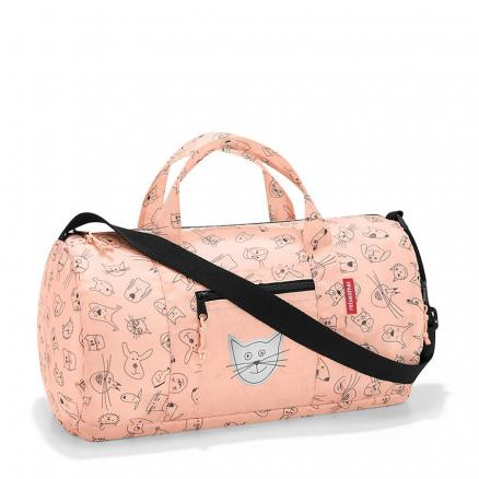 Сумка детская складная dufflebag cats and dogs rose, Reisenthel (Dufflebag)