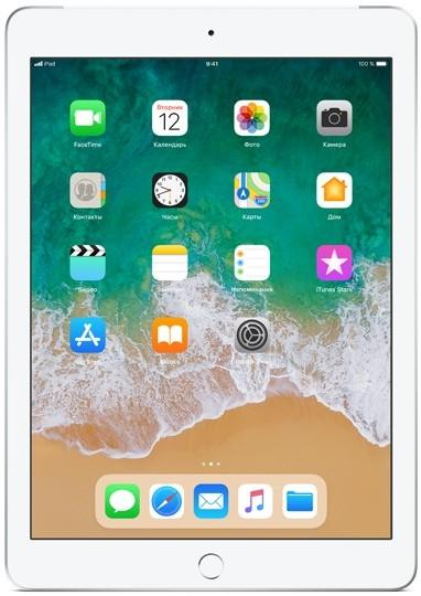 Apple iPad 9.7 Wi-Fi + Cellular 32Gb 2018 (серебристый) (iPad (2018) 32Gb Wi-Fi + Cellular (серебристый) MR6P2RU-A)