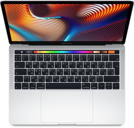 "Apple MacBook Pro 13"" 512GB Touch Bar (серебристый) (MacBook Pro 13 with Retina display and Touch Bar Mid 2018 (Intel Core i5 2300 MHz/13.3""/2560x1600/8GB/512GB SSD/DVD нет/Intel Iris Plus Graphics 655/Wi-Fi/Bluetooth/macOS))"
