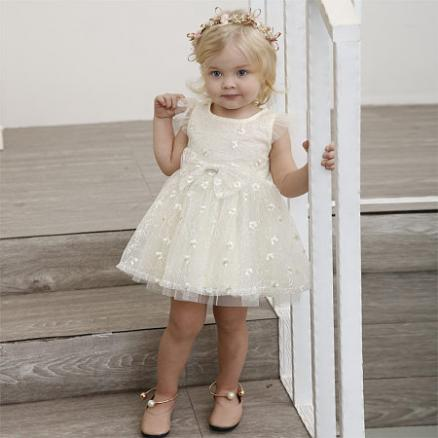Fly Sleeve Tulle Solid Color Princess Dress (5952312)