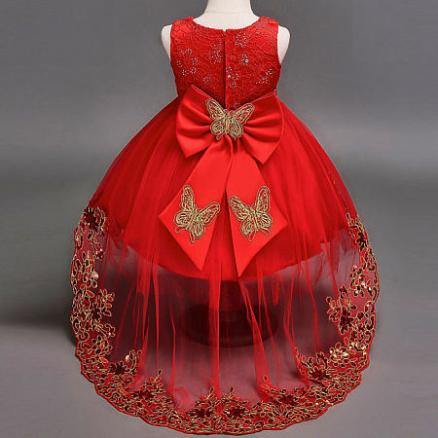 Sequin Embroidered Bowknot  Ball-Gown Dress (4048798)