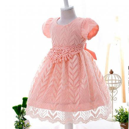 Sweet Beads Decorated Lace Girls Princess Formal Dress (3437310)
