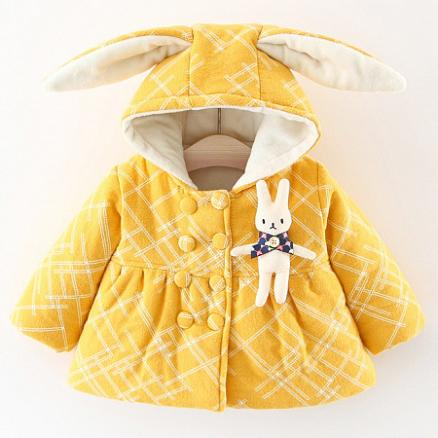Bunny Ears Thickened Outerwear (3996823)