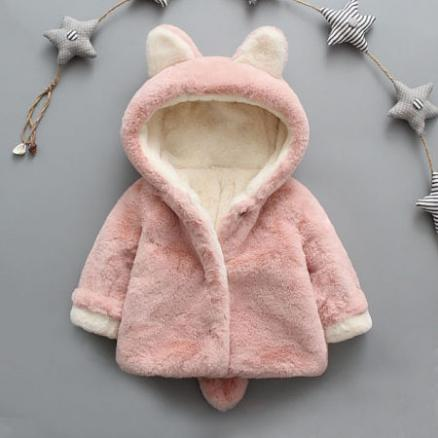 Plush Bunny Ears Outerwear (3735632)