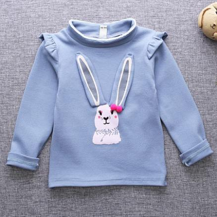 Bunny Pattern High Neck Sweatshirt (3866960)