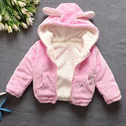 Lovely Plush Bunny Ears Outerwear (3750257)