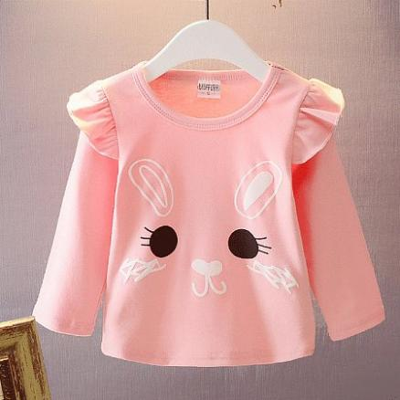 Rabbit Prints Ruffled Tops (4356644)