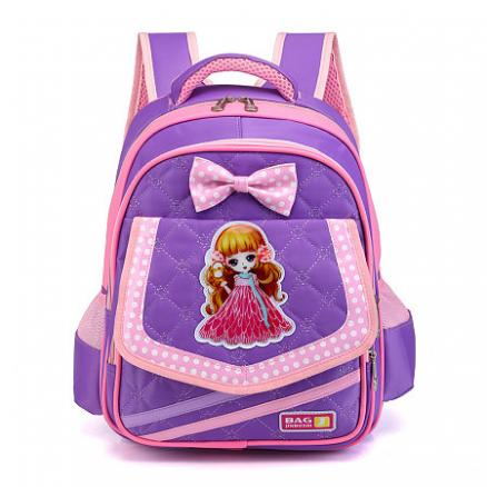 Bowknot Decorated Cartoon Character Pattern Backpack (4831130)