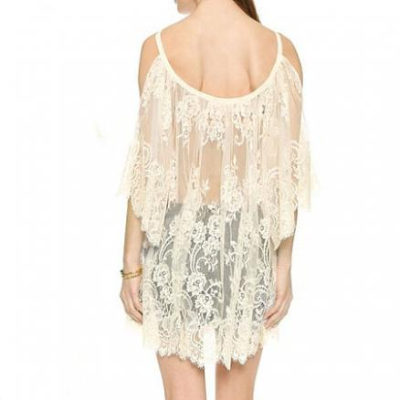 Maternity Lace Sun-Protective Cold Shoulder Shirt (3613635)