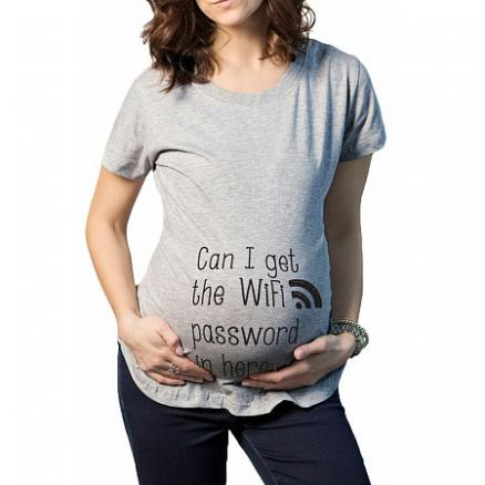 Maternity Letter Print Casual Tee (3753240)