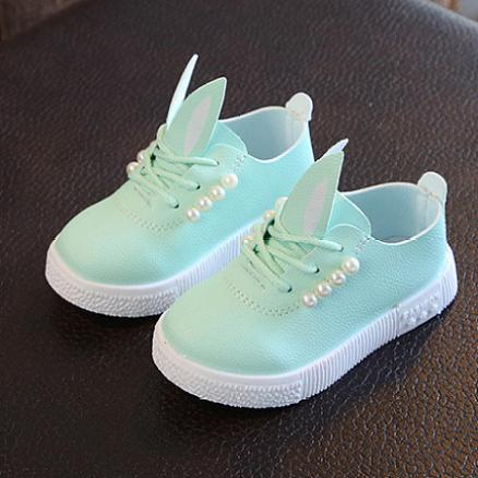 Beads Decorated Bunny Ear Shoes (4825394)