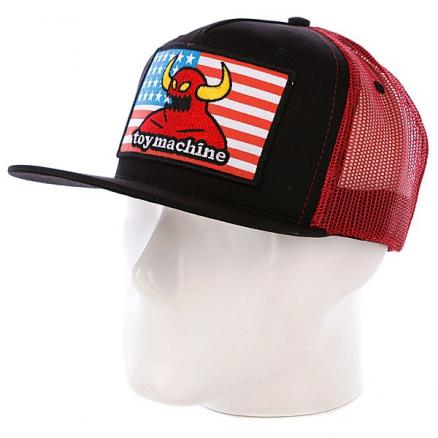 Кепка TOY MACHINE American Monster Mesh Cap RED
