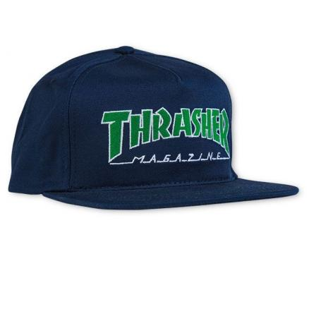Кепка THRASHER Outlined Snapback Navy