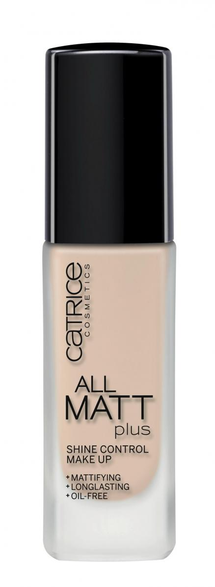 Основа тональная Catrice All Matt Plus Shine Control Make Up тон 010 Light Beige (Тональная основа Catrice)