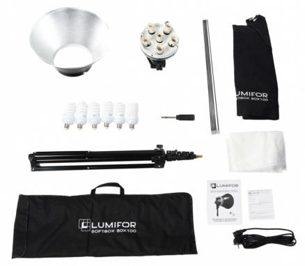 Комплект студийного света Lumifor (MIRA LFL-632 SR Kit, флуоресцентный, 6х32 Вт)