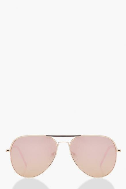Rose Gold Lens Aviator Sunglasses